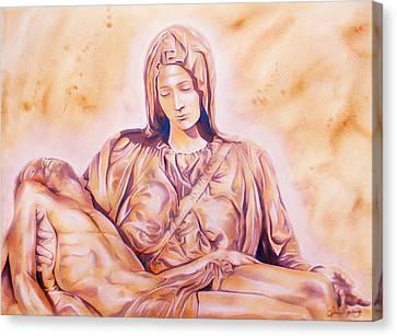 La Pieta Canvas Print by J- J- Espinoza