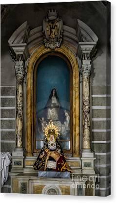 La Pieta Statue Canvas Print by Adrian Evans