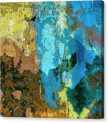 Canvas Print featuring the painting La Playa by Dominic Piperata