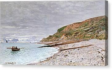 Rowboat Canvas Print - La Pointe De La Heve by Claude Monet
