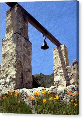 La Purisima Mission Bell Tower Canvas Print by Kurt Van Wagner