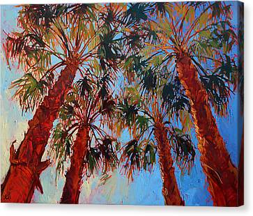 Palm Springs Canvas Print - La Quinta Palms by Erin Hanson