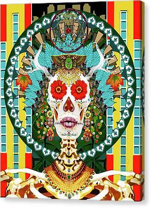 La Reina De Los Muertos Canvas Print by Susan Vineyard