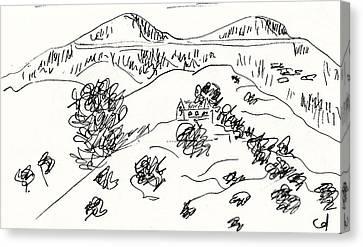 La Retama Mijas Canvas Print by Chani Demuijlder