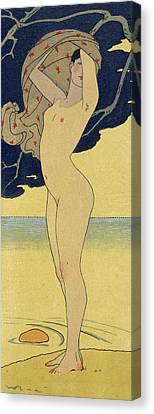 La Riviere De La Foret Canvas Print by Georges Barbier