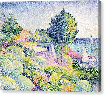 La Route Sur La Cote Canvas Print by Henri-Edmond Cross