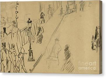 La Rue Mosnier  Canvas Print