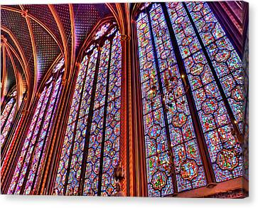 La Sainte-chapelle Canvas Print by Nigel Fletcher-Jones