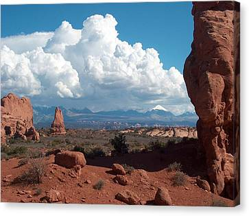 La Sal Mountains Canvas Print by Janet  Hall