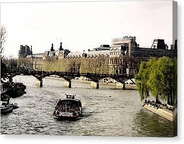 La Seine Canvas Print by John Bradburn