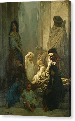 La Siesta, Memory Of Spain Canvas Print by Gustave Dore