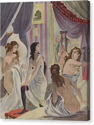 La Surprise Des Demoiselles D'honneur Canvas Print by French School