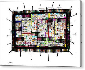 La Teoria Del Campo Canvas Print by Adriano Necci