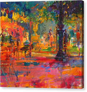 La Terrasse Du Jardin Canvas Print