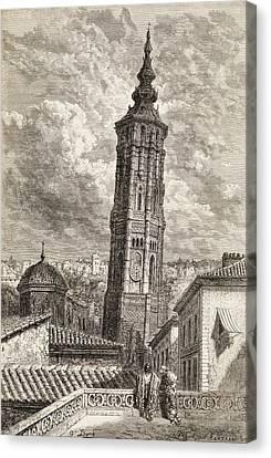 La Torre Nueva Or Inclinada In Canvas Print