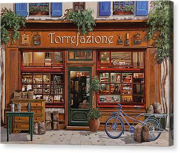 La Torrefazione Canvas Print by Guido Borelli