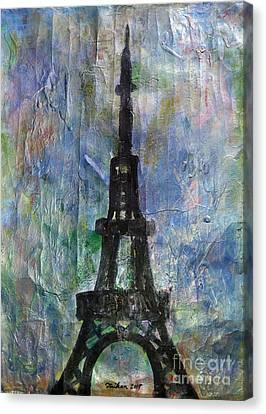 La Tour Eiffel By Taikan Canvas Print by Taikan Nishimoto