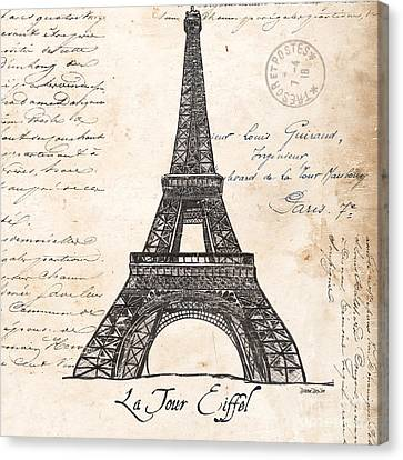 Graphic Canvas Print - La Tour Eiffel by Debbie DeWitt
