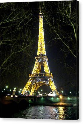 La Tour Eiffel En Nuit Canvas Print
