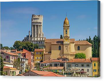 La Turbie Lovely Village In Southern France Canvas Print by Melanie Viola