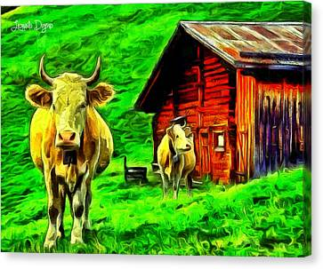 La Vaca - Da Canvas Print by Leonardo Digenio