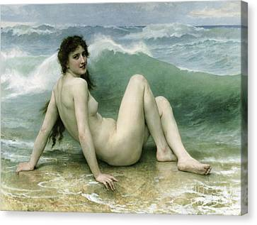 La Vague Canvas Print by William Adolphe Bouguereau