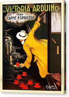 La Victortoria Ardunio Caffe Expresso - Leonetto Cappiello Vintage Ad Canvas Print by Jennifer Rondinelli Reilly - Fine Art Photography