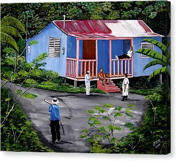 La Vida En Las Montanas De Moca Canvas Print