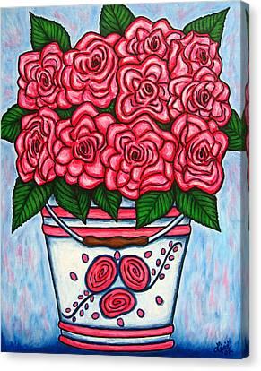 La Vie En Rose Canvas Print by Lisa  Lorenz