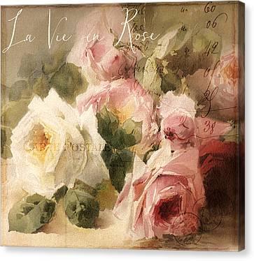 La Vie En Rose Canvas Print by Mindy Sommers