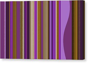 Large Purple Abstract - Two Canvas Print by Val Arie