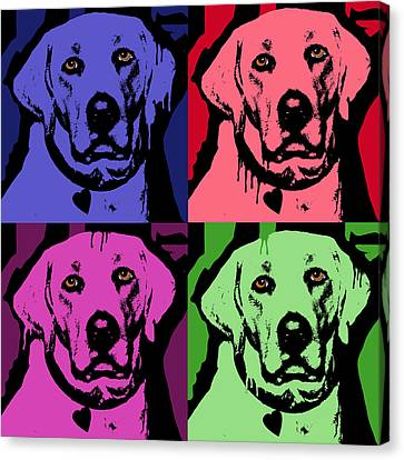 Lab Face Canvas Print by Dean Russo