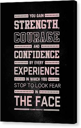 Schwarzenegger Canvas Print - Lab N. 4 Strength Does Not Come Arnold Schwarzenegger Motivational Quote by Lab No 4 The Quotography Department