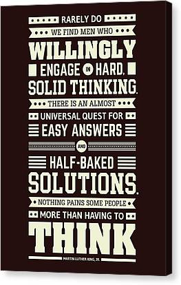Lab No. 4 Rarely Do We Find Martin Luther King, Jr. Inspirational Quote Canvas Print