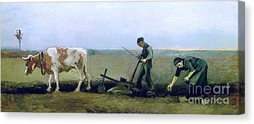 Labourer And Peasant  Canvas Print