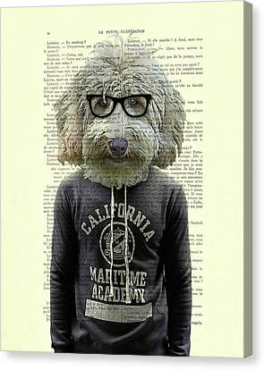 Labradoodle Dog Portrait Art Canvas Print by Madame Memento