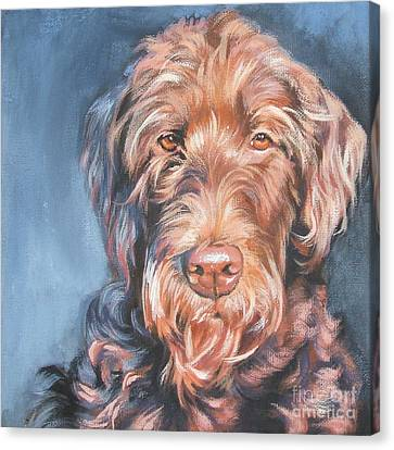 Labradoodle Canvas Print by Lee Ann Shepard