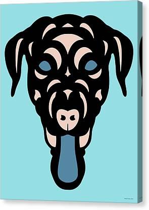 Labrador Dorianna - Dog Design - Island Paradise, Pale Dogwood,  Niagara Blue Canvas Print