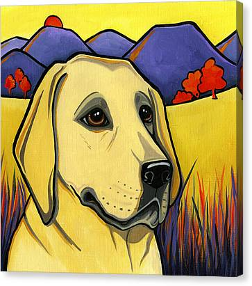 Golden Lab Canvas Print - Labrador by Leanne Wilkes