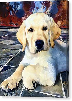 Labrador Retriever Painting Canvas Print by Scott Wallace