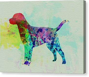Labrador Retriever Watercolor Canvas Print by Naxart Studio