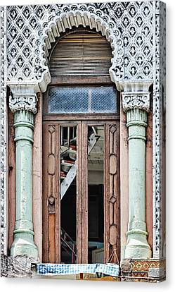 Lace Facade Canvas Print by Dawn Currie