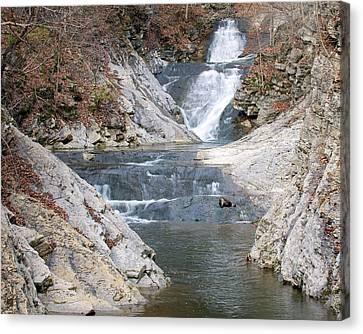 Lace Falls Canvas Print by Alan Raasch