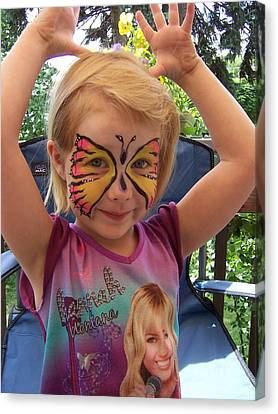 Lacey The Butterfly Canvas Print