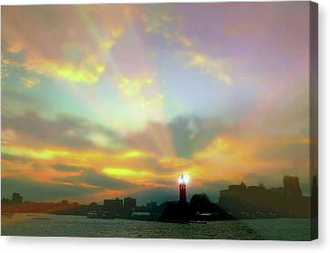 Lackawanna Transit Sunset Canvas Print by Diana Angstadt
