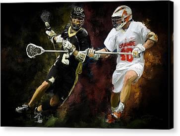 Lacrosse Close D #2 Canvas Print by Scott Melby
