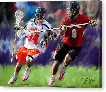 Lacrosse Close D Canvas Print by Scott Melby