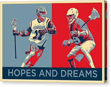 Lacrosse Pop Art Canvas Print by Scott Melby