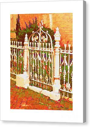 Lacy Garden Gate Canvas Print