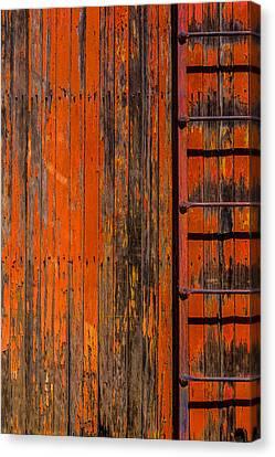 Ladder On Boxcar Canvas Print